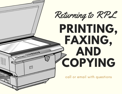 Printing, faxing, and copying services to resume at Rockville Public Library!